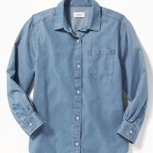 Old Navy Shirts & Tops - Old Navy Girls Chambray Boyfriend Tunic Shirt